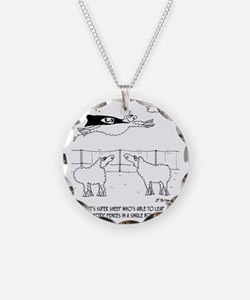6772_sheep_cartoon Necklace