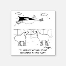 "6772_sheep_cartoon Square Sticker 3"" x 3"""