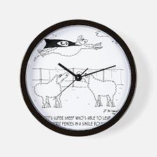 6772_sheep_cartoon Wall Clock