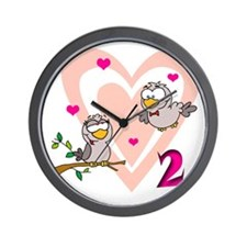 2 turtle doves Wall Clock