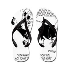 8660_soccer_cartoon Flip Flops