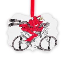 santa on a bicycle Ornament
