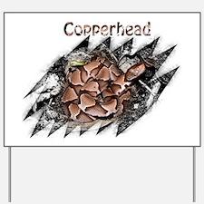 Copperhead shirt 2 Yard Sign