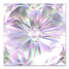 "Crystal Sparkle Round or Square Car Magnet 3"" x 3"""
