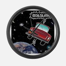 8638_GPS_cartoon Large Wall Clock