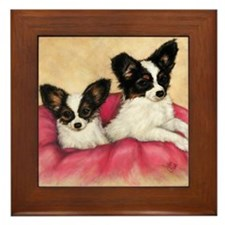 pups Framed Tile