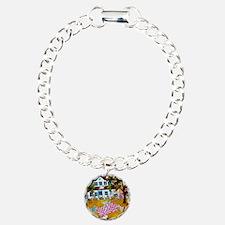 primitive folk art quilt Bracelet
