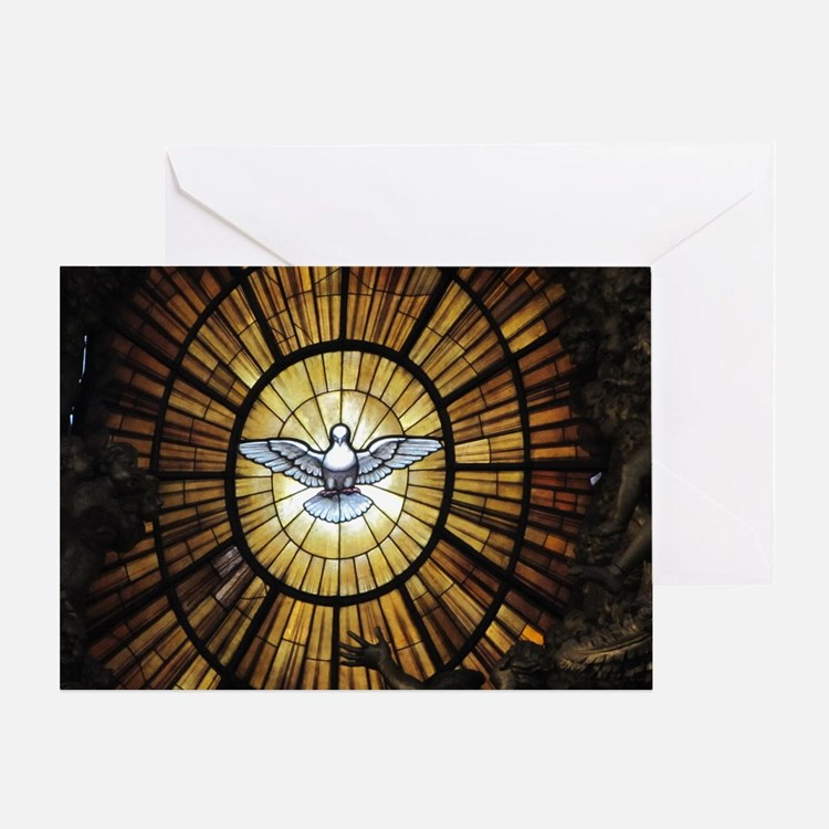 Dove Window at St Peters Basilica pu Greeting Card