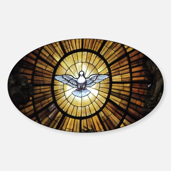 Dove Window at St Peters Basilica p Sticker (Oval)