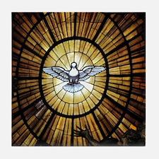 Dove Window at St Peters Basilica puz Tile Coaster