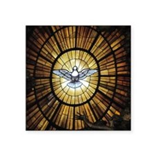 "Dove Window at St Peters Ba Square Sticker 3"" x 3"""