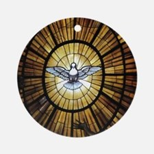 Dove Window at St Peters Basilica p Round Ornament