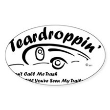 Teardrop with Words4 [Converted] [C Bumper Stickers