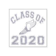 """CO2020 Track Grey Distresse Square Sticker 3"""" x 3"""""""
