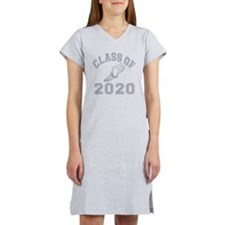 CO2020 Track Grey Distressed Women's Nightshirt