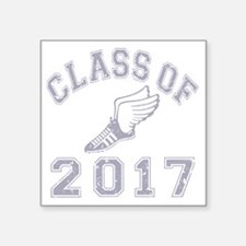 "CO2017 Track Grey Distresse Square Sticker 3"" x 3"""