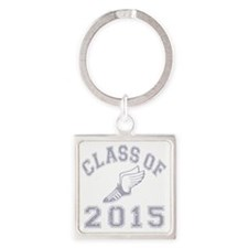 CO2015 Track Grey Distressed Square Keychain