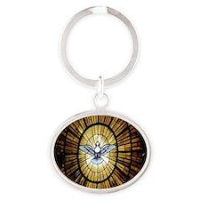 dove_window_crop_525x525 Oval Keychain