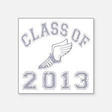 """CO2013 Track Grey Distresse Square Sticker 3"""" x 3"""""""