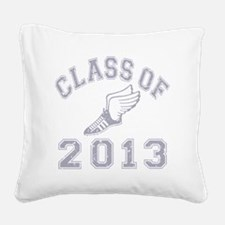 CO2013 Track Grey Distressed Square Canvas Pillow