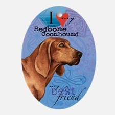 redbone-kindle Oval Ornament