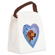 redbone-heart Canvas Lunch Bag
