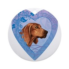 redbone-heart Round Ornament