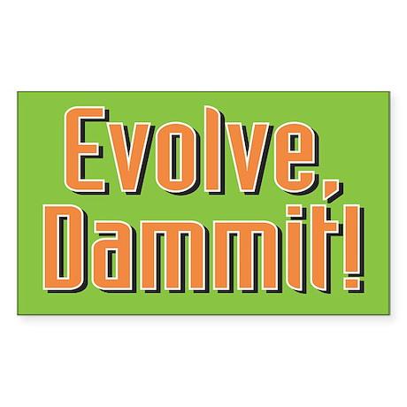 Evolution - Rectangle Sticker