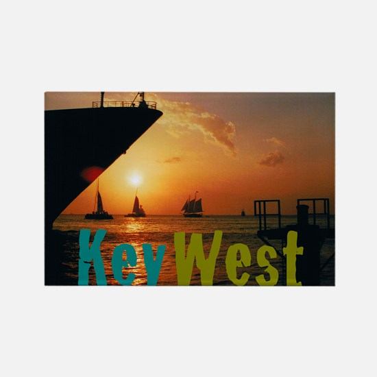 11.5x9at255SunsetShipKW Rectangle Magnet