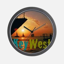 11.5x9at255SunsetShipKW Wall Clock