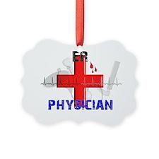 ER Physician RED Cross 2012 Ornament