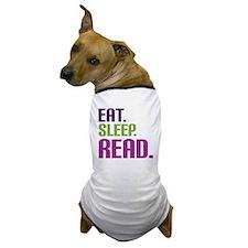 eatsleepread Dog T-Shirt