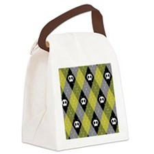 argyleskullWallet Canvas Lunch Bag