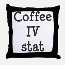 FIN-coffee-iv-stat-TRANS Throw Pillow