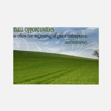 Great Enterprises Quote on Jigsaw Rectangle Magnet