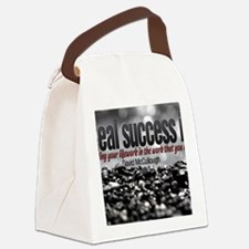Real Success Quote o Jigsaw Puzzl Canvas Lunch Bag