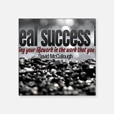 """Real Success Quote o Jigsaw Square Sticker 3"""" x 3"""""""