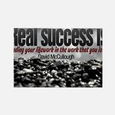 Real Success Quote o Jigsaw Puzzl Rectangle Magnet