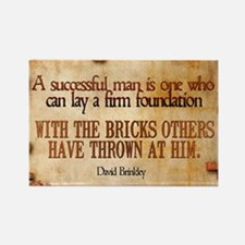 Successful Man Quote on Jigsaw Pu Rectangle Magnet