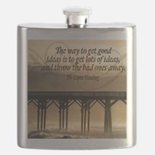 Good Ideas Quote on Jigsaw Puzzle Flask