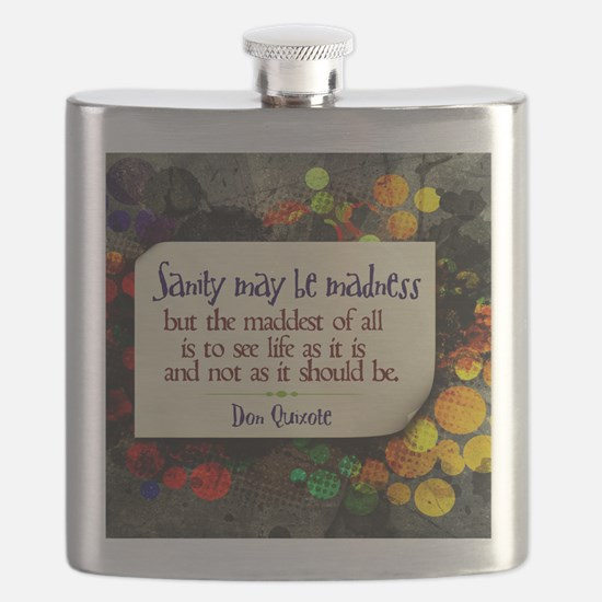 See Life Quote on Jigsaw Puzzle Flask