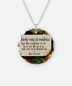 See Life Quote on Jigsaw Puz Necklace