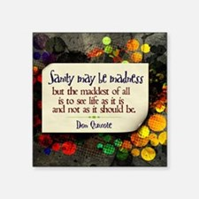 "See Life Quote on Jigsaw Pu Square Sticker 3"" x 3"""