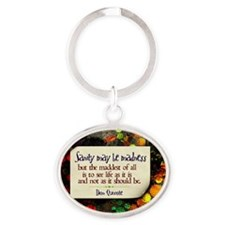 See Life Quote on Jigsaw Puzzle Oval Keychain