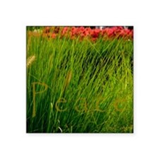 "Peace flowersgrass Square Sticker 3"" x 3"""