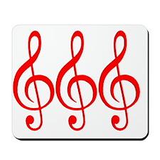 MUSIC MUSIC MUSIC RED Mousepad