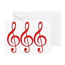 MUSIC MUSIC MUSIC RED Greeting Card
