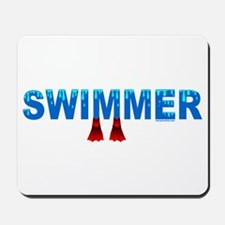 Blue Swimmer Mousepad