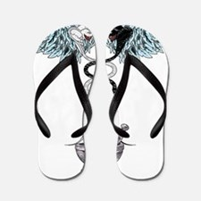 Caduceus Transparent 4000 copy Flip Flops