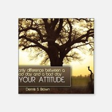 """Good Day Quote on Jigsaw Pu Square Sticker 3"""" x 3"""""""